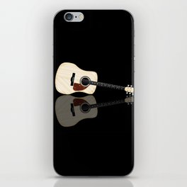 Pale Acoustic Guitar Reflection iPhone Skin