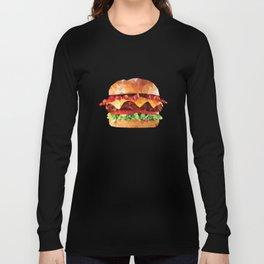 Geometric Bacon Cheeseburger Long Sleeve T-shirt