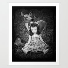 Deer and Nancy Ann Art Print