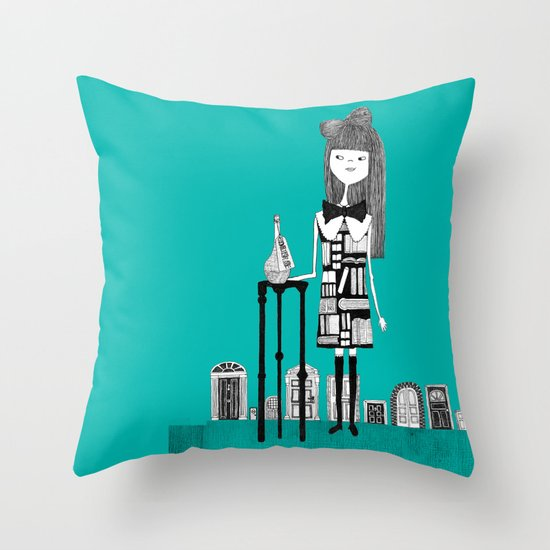 DRINK ME Throw Pillow