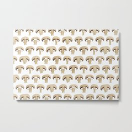 Many champignon slices pattern Metal Print