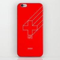 switzerland iPhone & iPod Skins featuring Switzerland by Skiller Moves