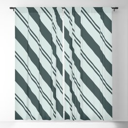 Night Watch PPG1145-7 Thick and Thin Angled Stripes on Cave Pearl Light Mint Green PPG1145-3 Blackout Curtain
