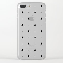 Pine tree Clear iPhone Case