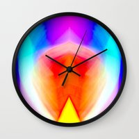 psychedelic art Wall Clocks featuring Psychedelic by Rafael Salazar