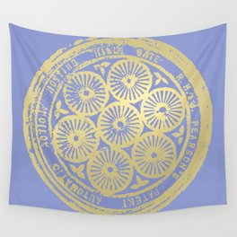 flower power: variations in periwinkle & gold Wall Tapestry