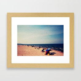 Lake Michigan Beach Scene Framed Art Print