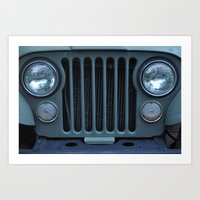 jeep Art Prints featuring Jeep by Rosa Maun