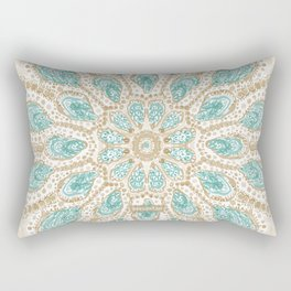 MMMOYSTERS Gold-Rimmed Oyster Mandala Rectangular Pillow