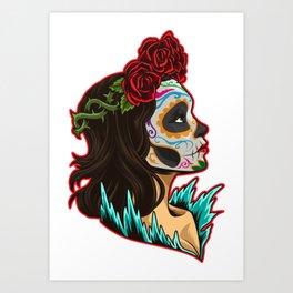 Sugar Skull - Santa Muerte - La Calavera Catrina Art Print