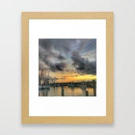 Creekside Sunset Framed Art Print