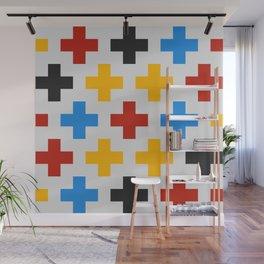 Colorful Cross Wall Mural