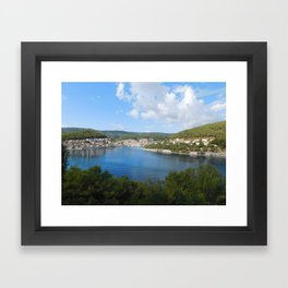 ft. clouds Framed Art Print