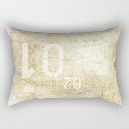 Vintage Grunge Typo & Scripts Rectangular Pillow