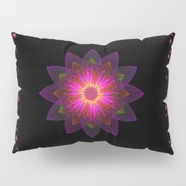Abstract purple flower 03 Pillow Sham