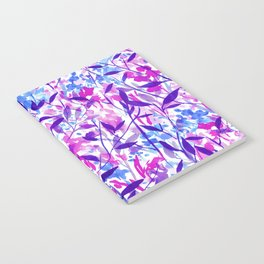 Wandering Wildflowers Violet Notebook