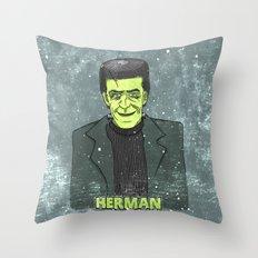 Herman Munster Throw Pillow
