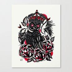Tattoo Owl Canvas Print