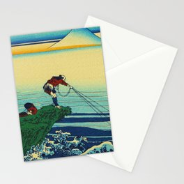 Vintage Japanese Art - Man Fishing Stationery Cards