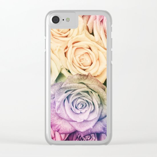 Some people grumble- Colorful Roses- Rose pattern Clear iPhone Case
