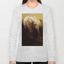 The cute elephant calf Long Sleeve T-shirt