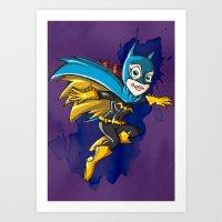 batgirl Art Prints featuring Batgirl! by neicosta