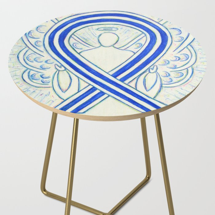 ALS Awareness Ribbon Angel Art Side Table by awarenessgallery