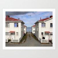 Patagonian Houses Art Print
