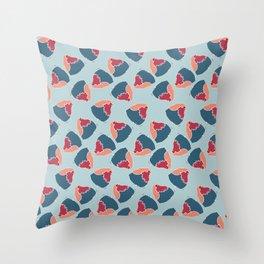 rolling robin Throw Pillow