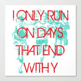 Running Days Canvas Print
