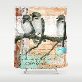 Vintage birds Shower Curtain