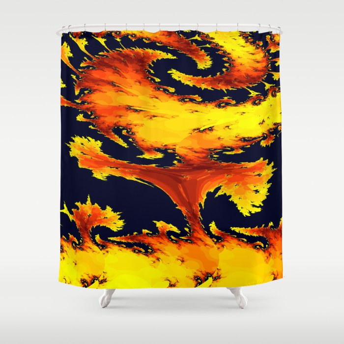 fire whirl Shower Curtain