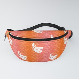 Faces - crying gypsy boy on a red and orange floral background Fanny Pack