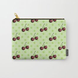 CHERRIES ON MINT GREEN Carry-All Pouch