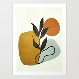 Soft Abstract Small Leaf Art Print