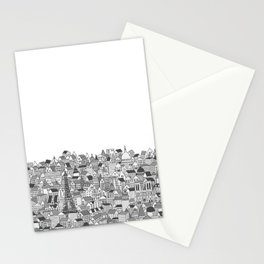 Paris (black and white version) Stationery Cards