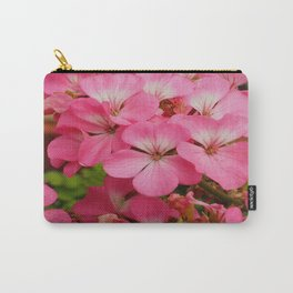 Pink Geranuims Carry-All Pouch