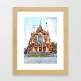 St. Josephs Church Krakow #krakow Framed Art Print