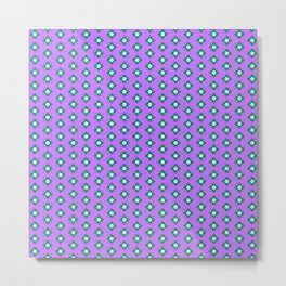 Mandala pattern smal purple Metal Print