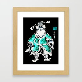 Zhong Kui the Ghost Catcher- Green Robe Framed Art Print