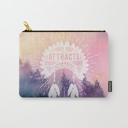 Your Vibe Attracts Your Tribe - Magical Forest Carry-All Pouch
