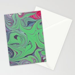 abstraction stains paint mixing Stationery Cards