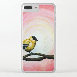 Minimalist Goldfinch Clear iPhone Case