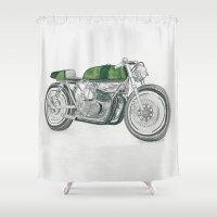 motorbike Shower Curtains featuring MOTORBIKE by EDENLAND