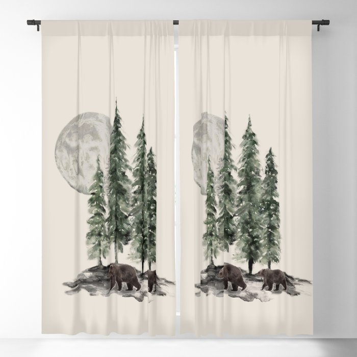 Full Moon Rising Blackout Curtain