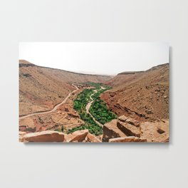 Atlas Mountain Views Metal Print