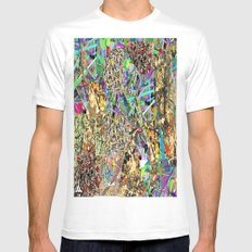 JACKTION POLLOCK PAINTING White Mens Fitted Tee SMALL