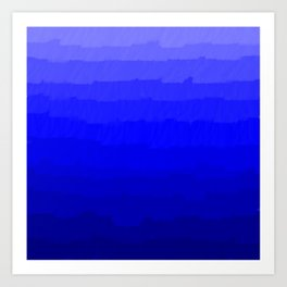 Blue in Shades Art Print