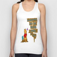 winnie the pooh Tank Tops featuring Winnie The Pooh by LaLunaBee