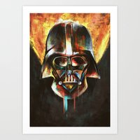 darth vader Art Prints featuring Darth Vader  by Mishel Robinadeh